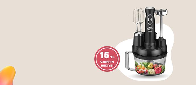 ProChef Mutfak Robotu 1,099 TL yerine sadece 479 TL ve 15 TL Chippin hediye